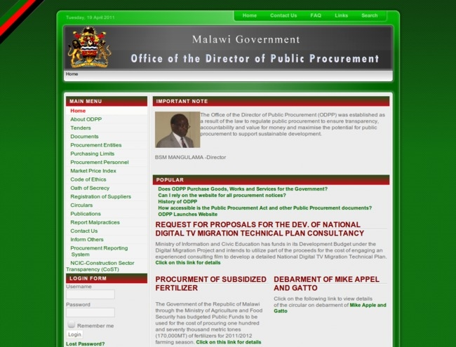 Political Interference Affecting Procurement Process