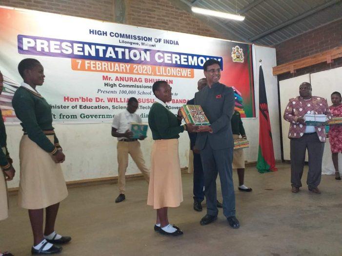 India Donates Text Books to Malawi