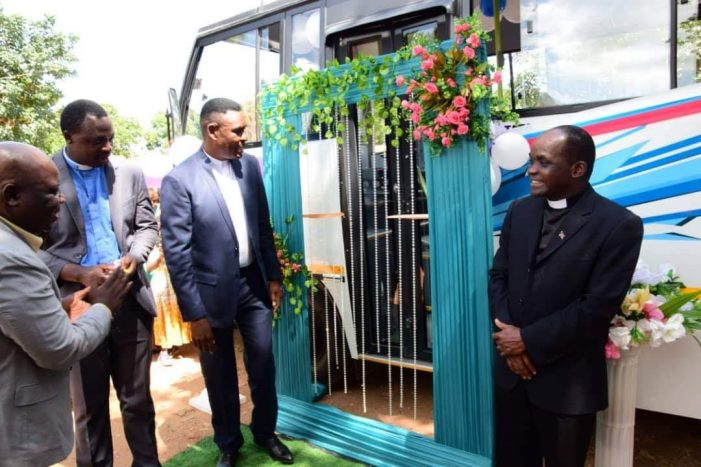 Mutharika's Security Aid Norman Chisale Donates 42 Seater Bus to Sunday School Choir