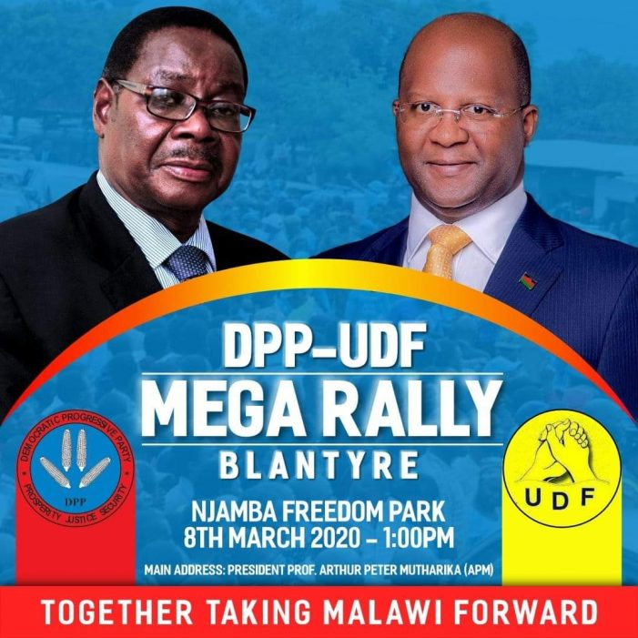 All Roads Lead to Njamba For DPP-UDF Mega Rally