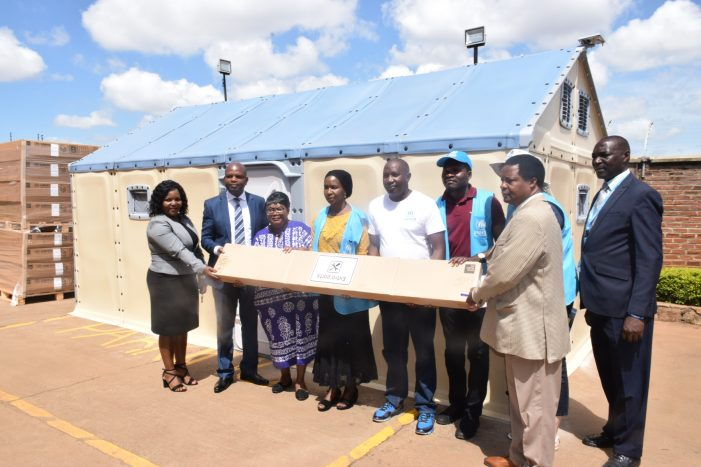 UNHCR Donates Housing Units to Disaster Victims