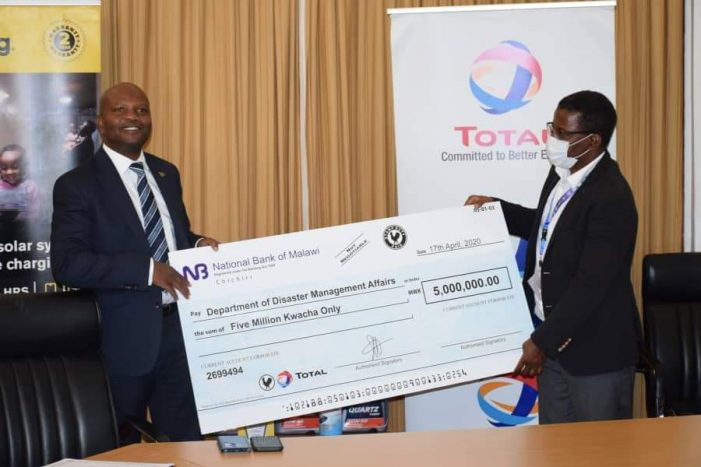 Total Malawi Donates K5 Million-Worth Fuel Towards Covid-19