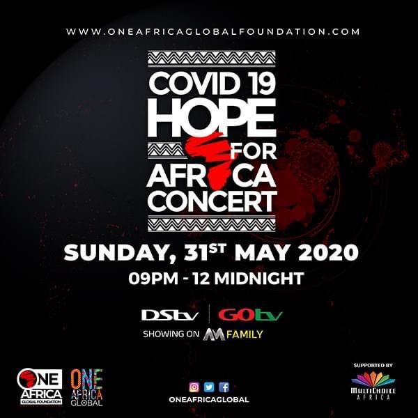 MultiChoice Partners One Africa Global Foundation on COVID-19 Hope For Africa Concert