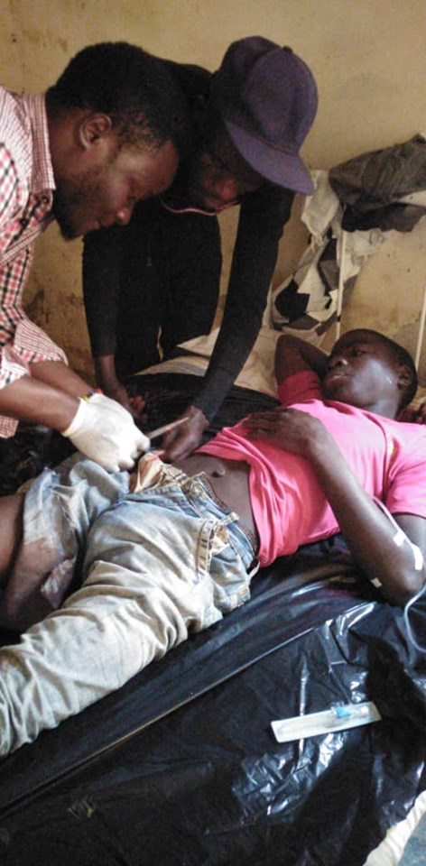 Chaos In Machinga As Chilima's Private Security Shoots Two Demonstrators