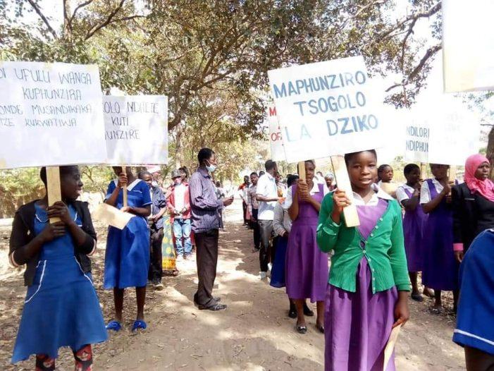 Primary School Learners March Against Rise in Teenage Pregnancies