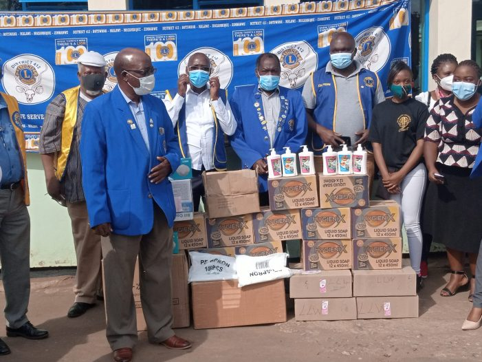 Lions Club Donates Personal Protective Equipment to Kamuzu Central Hospital