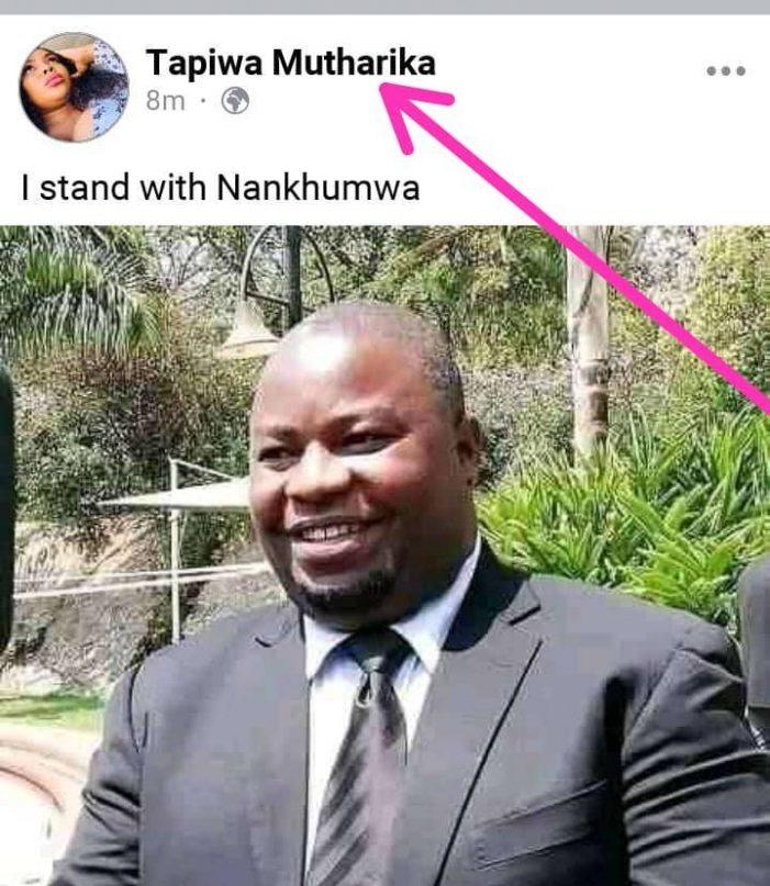 Bingu Mutharika's Elder Daughter Tapiwa Backs Nankhumwa