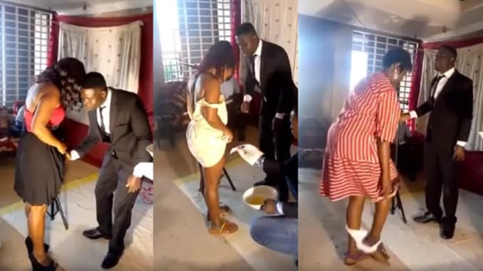 SHOCKING!Pastor Removes Women Underwears,  Shaves Their Privates In Church