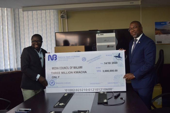 Press Corporation plc Gives K3million to Media Council