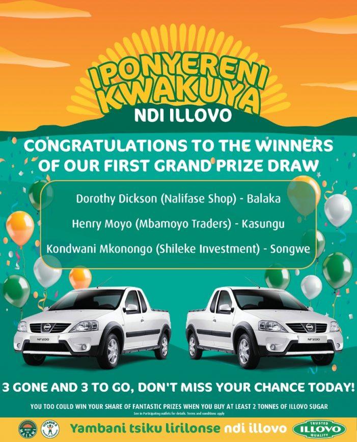 'IPONYERENI KWAKUYA NDI ILLOVO' PROMOTION: Three Win Pick-ups