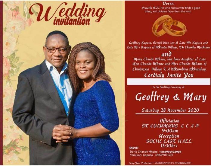 All Set For Mr. Splash Geoffrey Kapusa's Wedding This Saturday In Blantyre