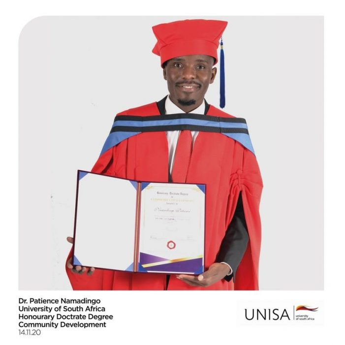 YOU CAN NOW CALL HIM  DR. NAMADINGO: UNISA Honors Patience Namadingo With Doctorate Degree