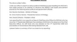 NOCMA-GATE: Chakwera Aide, Cabinet Ministers, Aford President Implicated