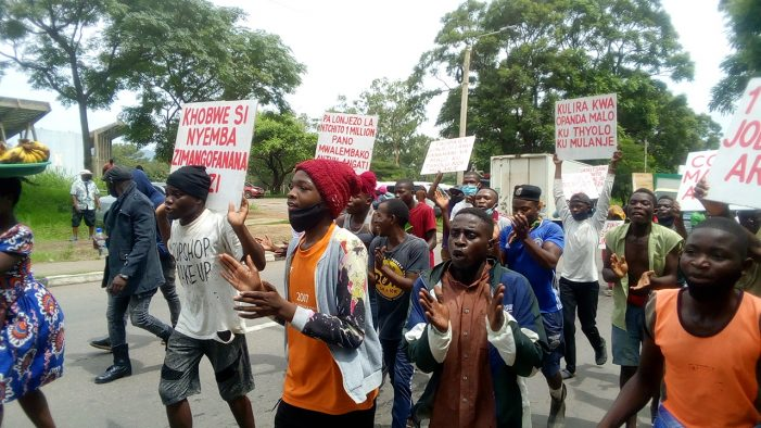 CDEDI, Business Operators Demonstrate In Blantyre: Demand Reduction On Fuel Prices