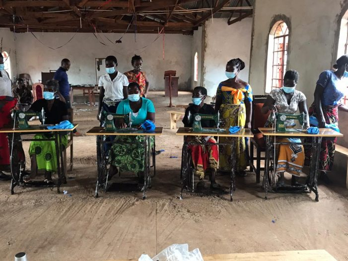 NGO DONATES SANITARY SEWING MATERIALS: says to reduce girls' school absenteeism