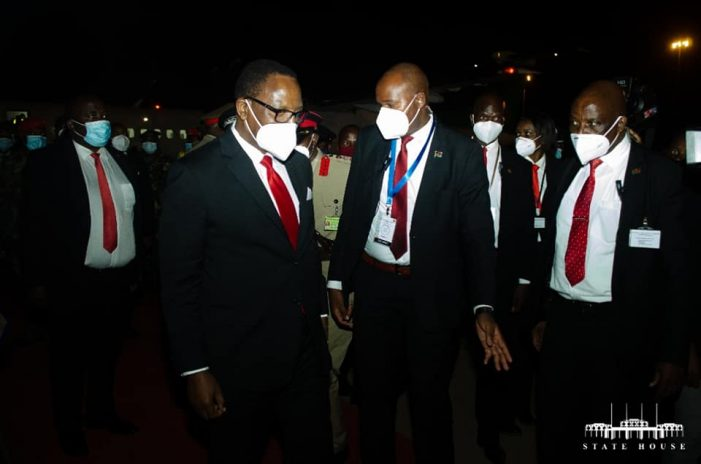 Lazarus Chakwera Returns From Mozambique
