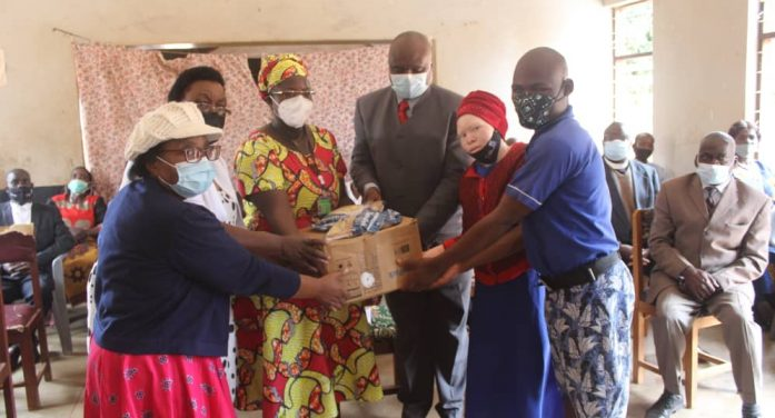 First Lady Monica Chakwera Donates Rice, Soya Blend to Chilanga School for Blind