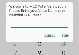 Voters Urged to Use Mobile Phones For Verification