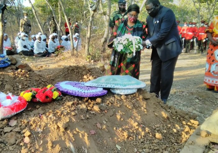 Kachaje Laid To Rest,  Accorded Military Honours