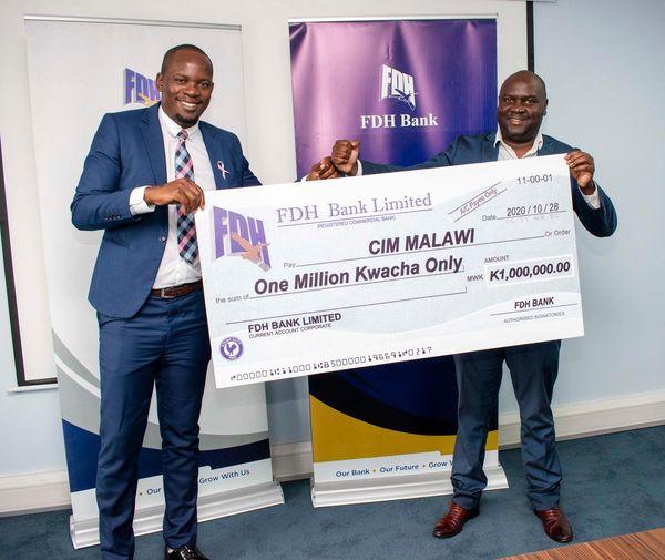 FDH Bank Donates K1million to CIM' Annual Lake Conference