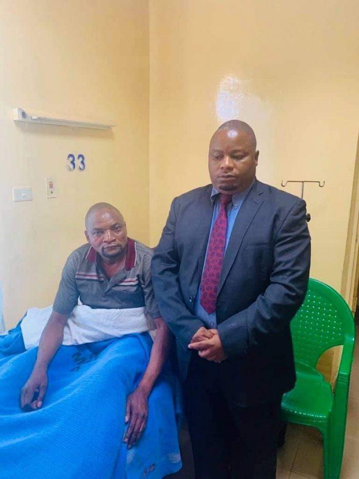 Nankhumwa Cheers  Mzomera Ngwira in Hospital