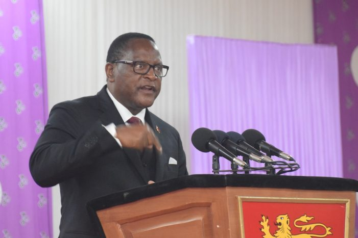 Lazarus Chakwera Calls For Concerted Effort To Fight Corruption