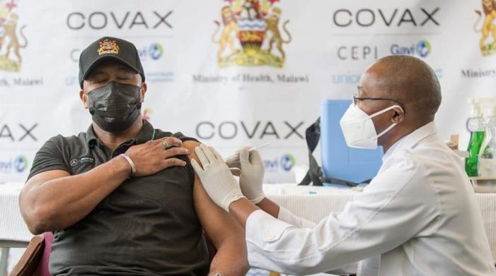 Veep Chilima Urges Malawians To Embrace COVID-19 Vaccine