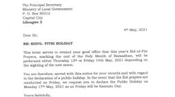 Malawi Muslims Ask Govt To Declare Monday  Eidul Fitri Holiday Not Friday May, 14 Since It Will Be Kamuzu Day