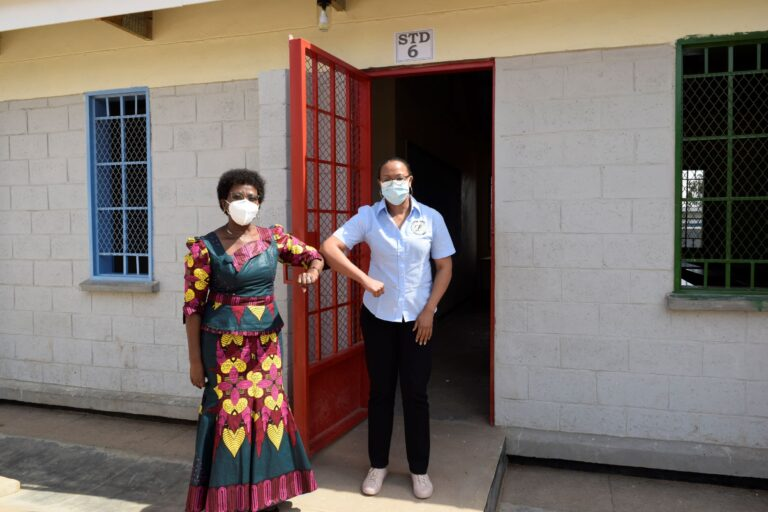 Limbe Leaf hands over school blocks, desks to Kanjoka School in rural Kasungu